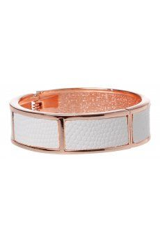 Rose Gold Fabric Section Hinge Cuff