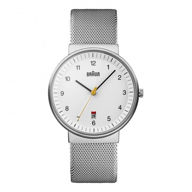 Gents BN0032 Classic Watch - White Dial and Silver Mesh Bracelet