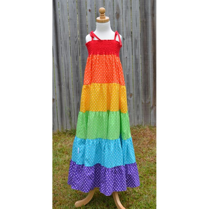 Love this pretty rainbow twirly dress by Gracious Princess for $50