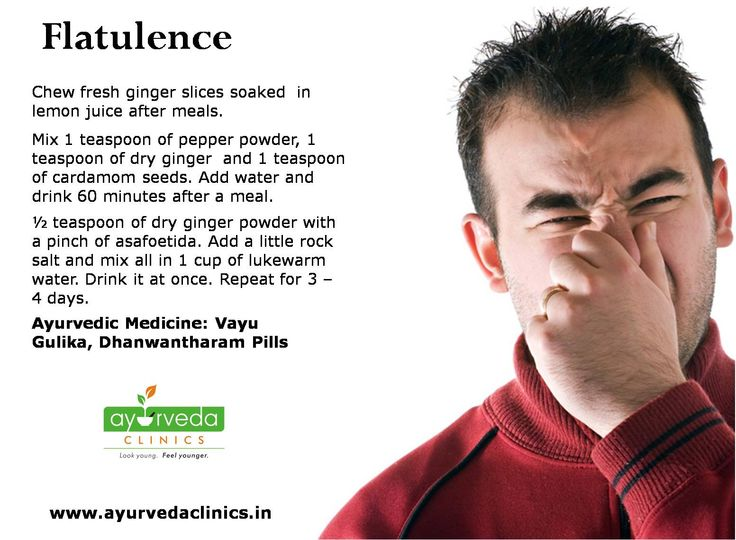 Our intestines can't digest everything we eat. The leftovers pass on to the colon. The processing or fermentation of leftover carbohydrates by the colonic bacteria leads to the formation of intestinal gas. Most people even refrain complaining about flatulence, excessive belching, increased intestinal gas and bloating. Treatment of flatulence (Aadhmaana in Ayurveda) have therapies to promote deepana (by carminatives), paachana (by digestives) and vaataanulomana (by gas expellers).
