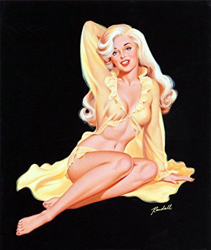 PinUp Girl Wall Decal Poster Sticker  Blonde PinUp in Lingerie  Pinup Decal Stickers and Mural for your home and business Vintage Wall Art for Room Decor and Decoration  Pin Up Poster Mural * Click image to review more details.