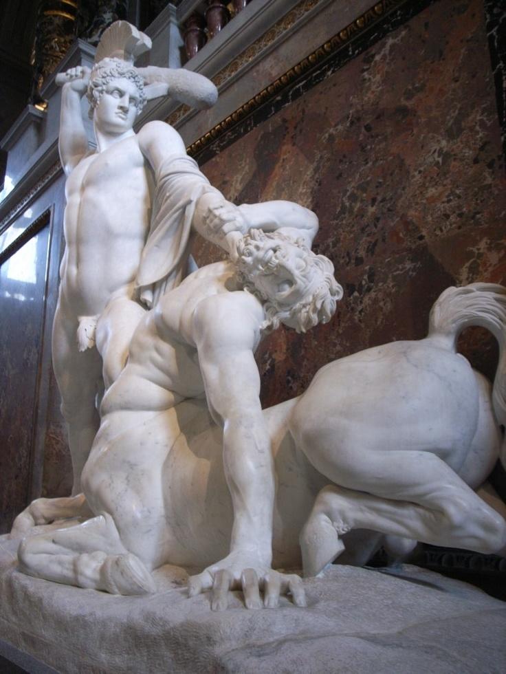 켄타우로스를 죽이는 테세우스  in 오스트리아 미술사 박물관