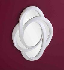 Espejos de pared modelo galaxia gc blanco espejos for Espejos decorativos blancos
