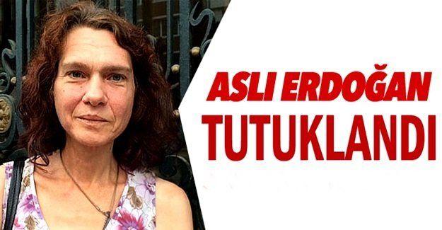 Kapatılan Özgür Gündem Gazetesi Yayın Danışma Kurulu üyesi ve yazar Aslı Erdoğan…
