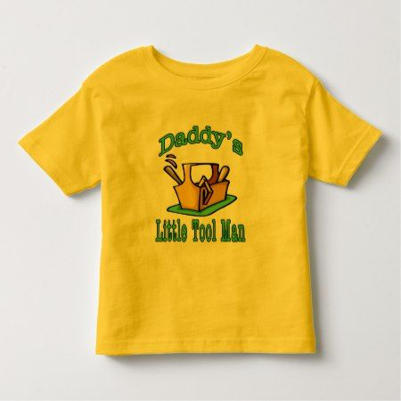 Daddy's Little Tool Man Toddler T-shirt - click to get yours right now!