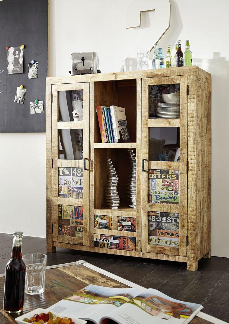Stilvoll Und Modern Mit Einem Massiven Erscheinungsbild. Unsere DETROIT  Möbel Vereint Das Material Holz
