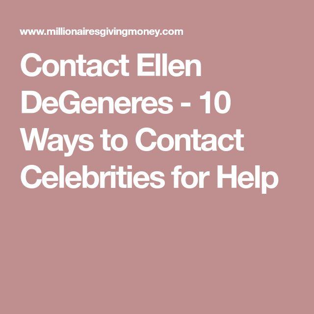 Contact Ellen DeGeneres - 10 Ways to Contact Celebrities for Help