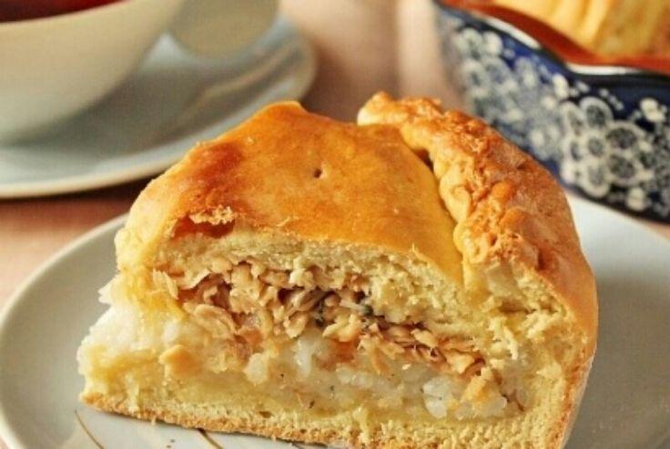 Потрясающий пирог с консервированной горбушей