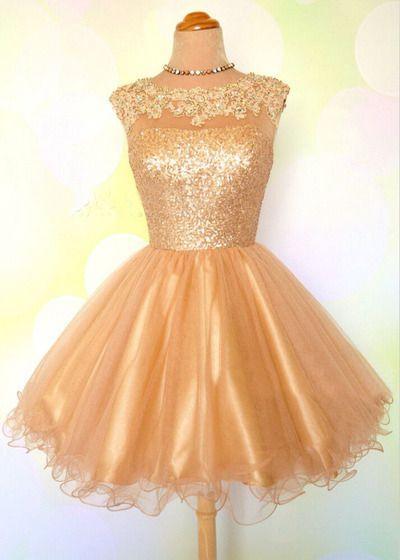 homecoming dress, short homecoming dress, gold homecoming dress, short prom dress, party prom dress, BD149081