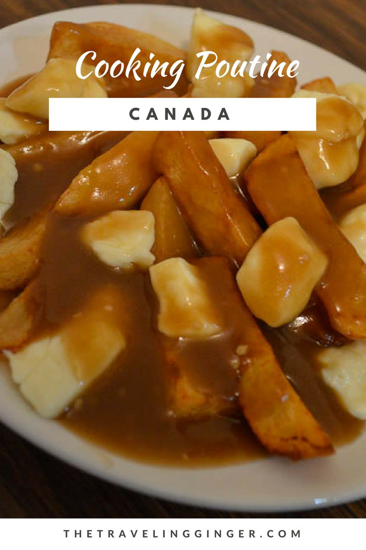 Cooking Candian Poutine and Nanaimo Bars. The best food in Canada is Poutine! Fries and cheese curds drenched in gravy - it is heaven! Try this recipe for Poutine. Nanaimo Bars are a great Canadian desert. Try this recipe and eat heavenly bars of creaminess and chocolate.  Poutine recipe Nanaimo Bars Recipe #nanaimobar #poutine #poutinerecipe #canada #canadianfood #recipe