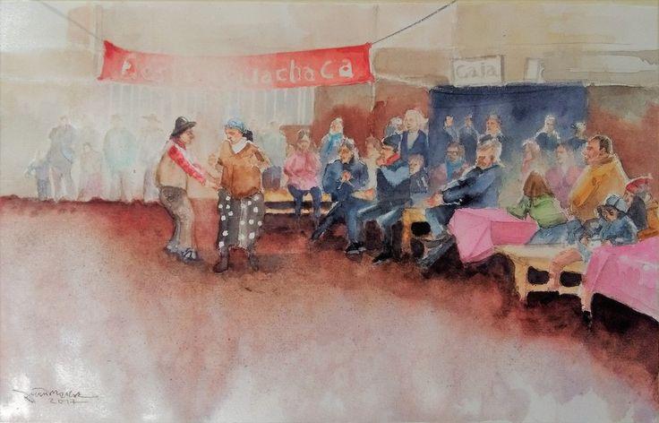Fiesta Guachaca II (San Antonio de Dadi, Florida, Chile) #watercolours