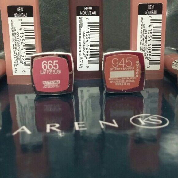 Maybelline matte lipsticks All swatched but never been used Makeup Lipstick