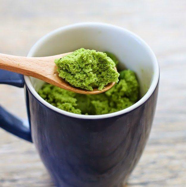 Matcha Green Tea Mug Cake | 37 Delicious Desserts You Can Make With Tea