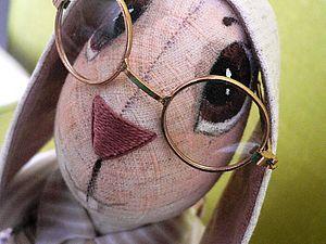 Dibuja los ojos de un conejo textil.  | Feria Masters - hecho a mano, hecho a mano