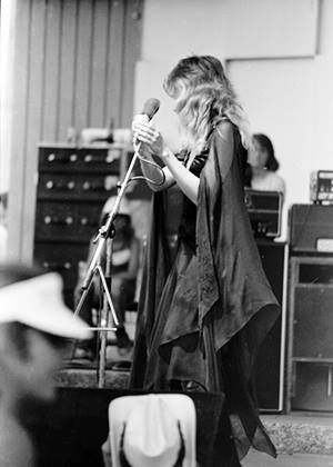 and another photo of Stevie  ~ ☆♥❤♥☆ ~    onstage at the Glen Oak Park Amphitheatre in Peoria, IL on June 25th, 1976; photo by Charles Eicher