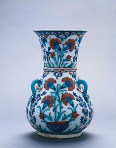 Mosque Lamp, 1585-1595  Turkey (Iznik), Ottoman Period, 16th Century
