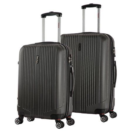 InUSA San Francisco Collection Lightweight Hardside Spinner 2-Piece Set, 22 inch, 26 inch, Gray