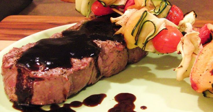 Curly Girl Kitchen: New York Strip Steak with Peach Balsamic Reduction Sauce