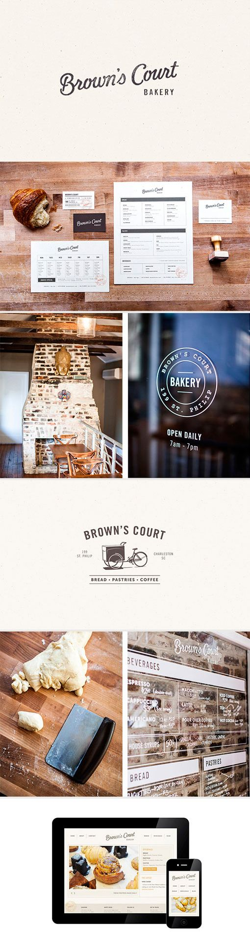 identity / brown's court bakery | #stationary #corporate #design #corporatedesign #identity #branding #marketing repinned by www.BlickeDeeler.de | Visit our website: www.blickedeeler.de/leistungen/corporate-design