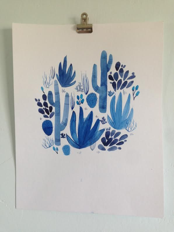 Blue Cactus | Shelby Ling