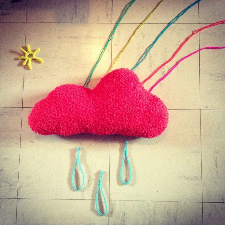 Coussin nuage crochet