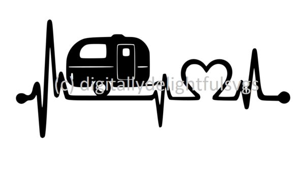 Camping Heartbeat svg