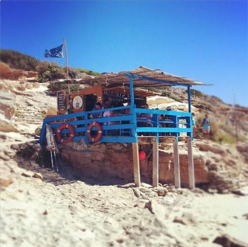 A great beach bar can be as simple as a few 2x6's and a dream... Bartolo's Beach Bar, Formentera