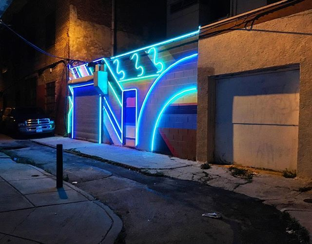 #electricstreet installation by @_david_guinn and @drewbilliau. #whyilovephilly…