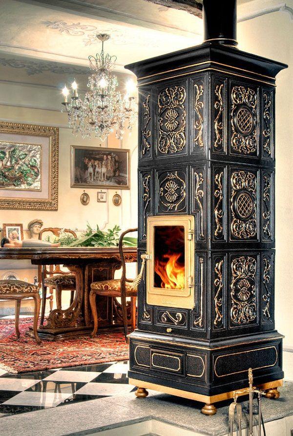 276 best piec kaflowy stove kachelofen images on for Decorative rocket stove