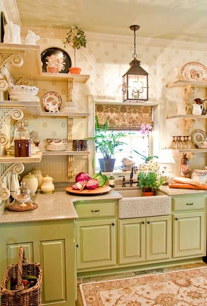 Lovely old farmhouse kitchen ~ love the old sink