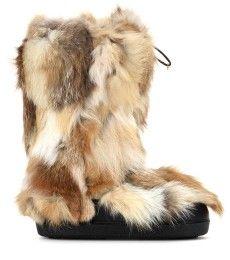 Chloé - Stivali in pelliccia di volpe - mytheresa.com