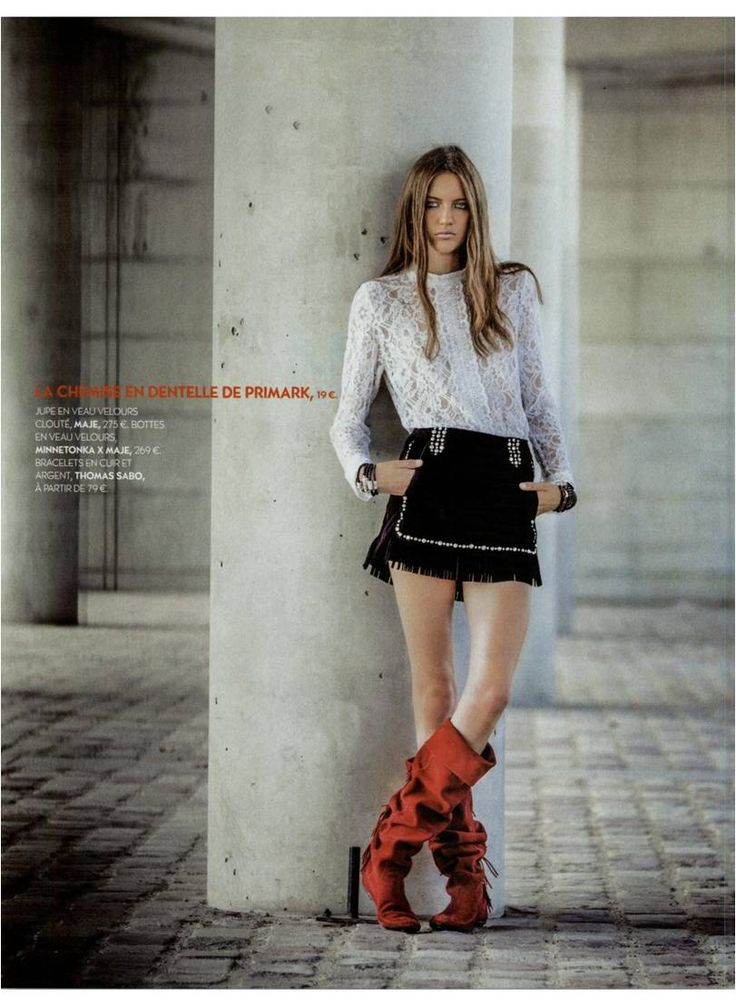 Miss Biba, in TOTEM Shoes and JACOB skirt, as featured in the November 2015 issue of Biba FR