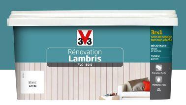 Peinture spéciale pour la rénovation du lambris sans décapage de V33. Convient aussi pour boiseries vernis, ou en PVC  s'applique en 2…