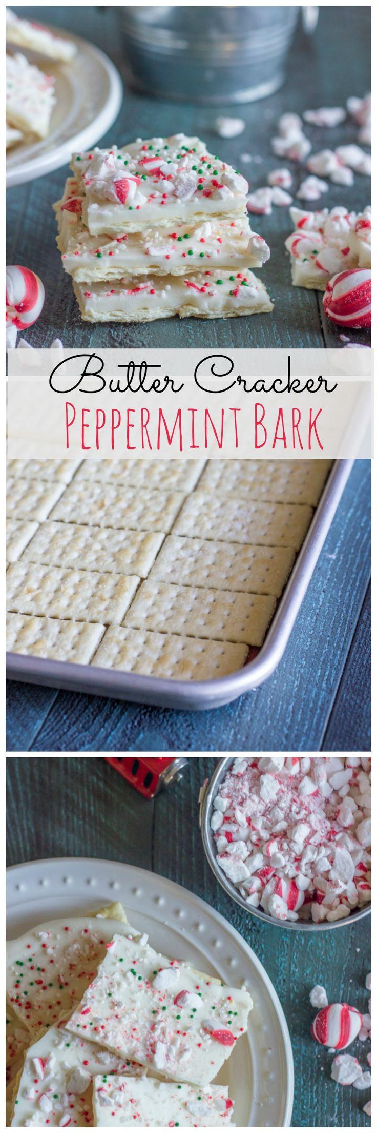 Butter Cracker Peppermint Bark - sweet and salty!