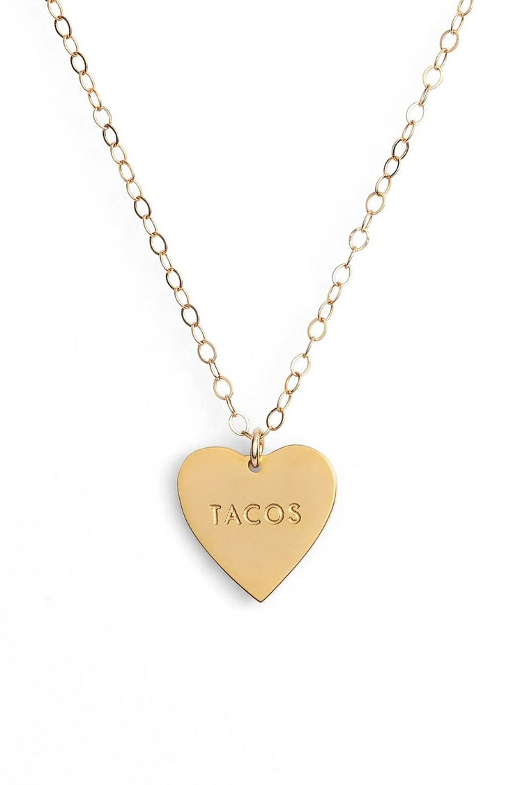 Too cute! Declare undying love and affection for everyone's favorite guacamole delivery device with this witty gilded charm necklace.