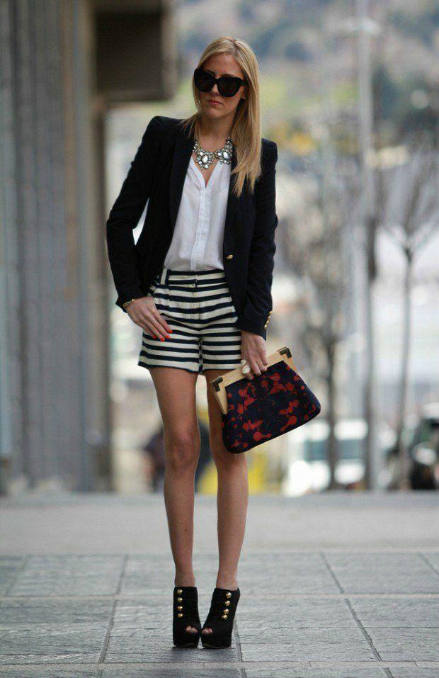 tenue femme en noir et blanc