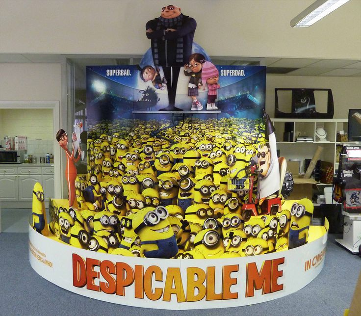 Despicable Me standee