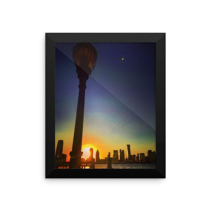 NJ city Sunset