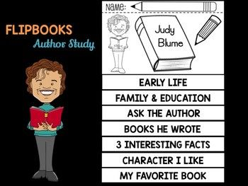FLIPBOOKS : Judy Blume - Author Study and Research
