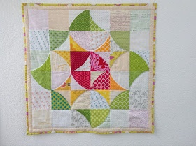 Great curved piecing using special ruler