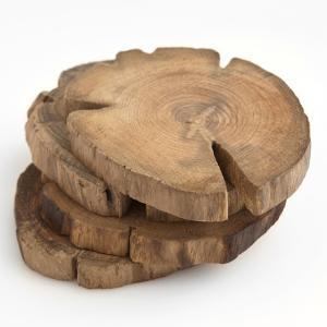Poketo Teak Wood Coasters: Decor, Poketo Teak, Gift Ideas, Coaster Set, Teak Wood, Teak Coasters, Woods, Products, Wood Coasters