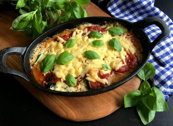Squashruller med ost og tomat…
