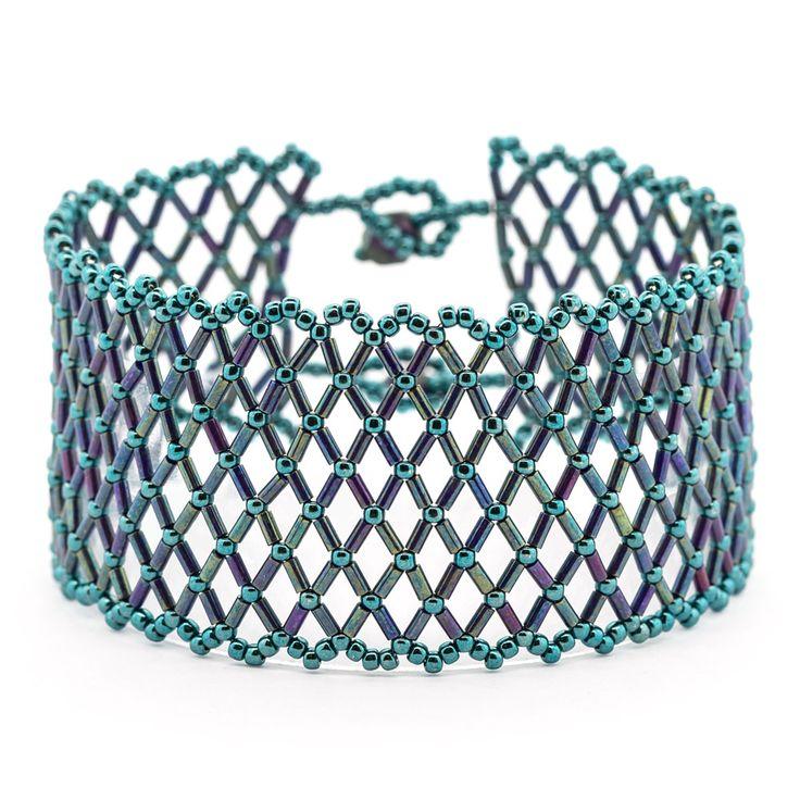 Mermaid Magic Bracelet   Free instructions  ~ Seed Bead Tutorials