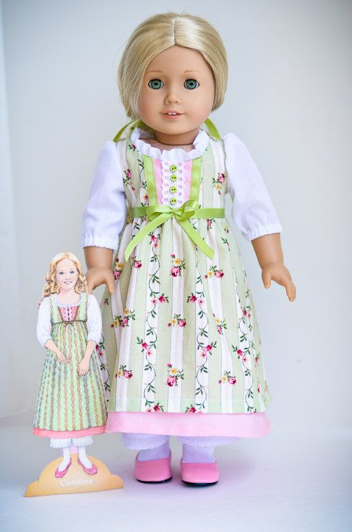 Caroline's Green PaperDoll Dress.via Etsy. By AnnasGirls.