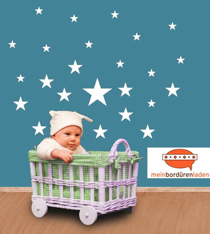 Best Wandtattoo Sterne f r Kinderzimmer in verschiedenen Farbt nen DaWanda meinborduerenladen de