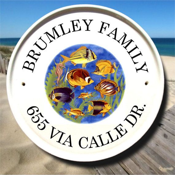 32 best beach house plaques and house number signs images on