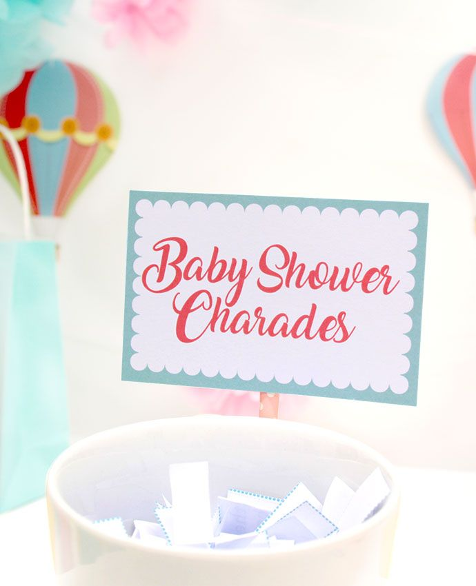 Our free printable baby shower charades game is a fun activity for your baby shower. Perfect for anyone looking for a fun baby shower game that your guests will actually want to play. Expect lots of laughs!