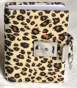 Personal Diary with Key | Teen Locking Diary ANIMAL PRINT Personal Journal, Lock and Key - BROWN ...