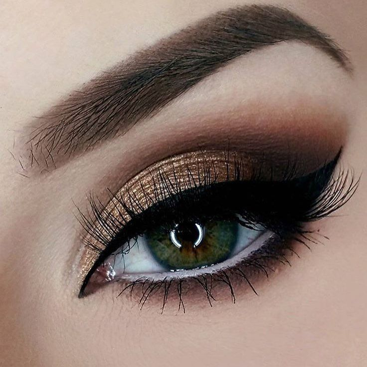 Cocoa eyes with gorgeous gold.  In this smokey eye look @vanyxvanja used our Jumbo Eye Pencil in 'Milk' and Matte Liquid Liner!    #nyxcosmetics by nyxcosmetics