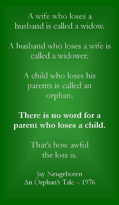Losing A Child on Pinterest | Grieving Mother, Child Loss and ... via Relatably.com
